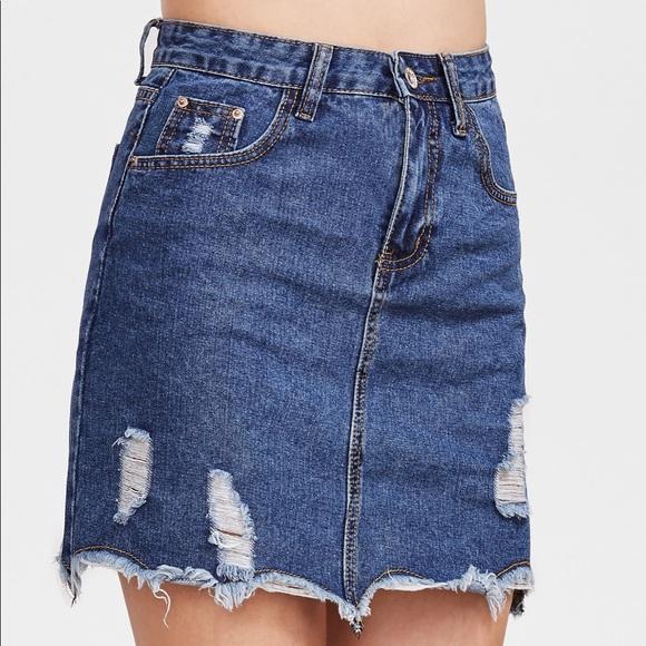 ROMWE Dresses & Skirts - ❤️denim skirt ❤️